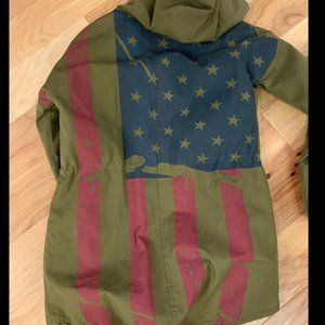 Urban Outfitters BDG American Flag Anorak Jacket